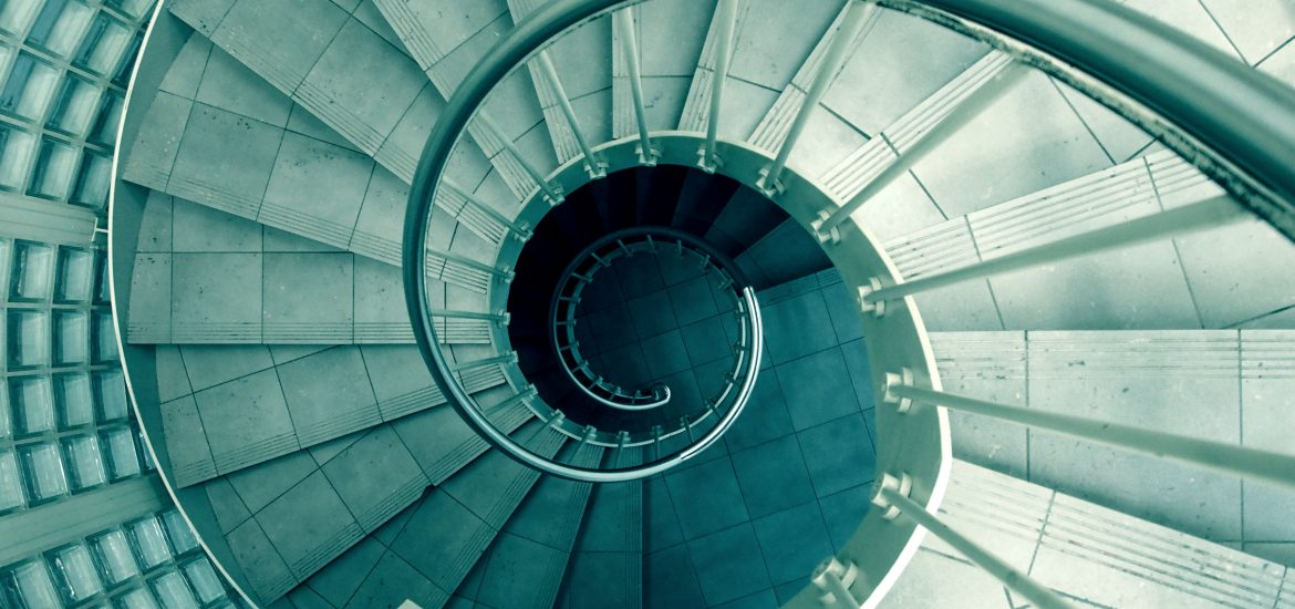 Spiral staircase - The Dinocorn Life - Creative writing for mental health