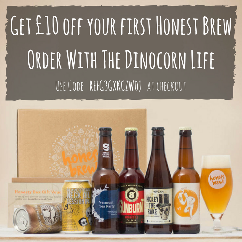 Get £10 off your first Honest Brew order with The Dinocorn Life